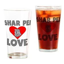 Shar Pei Love Drinking Glass