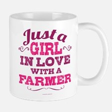 Girl In Love Farmer Mugs