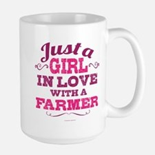 Girl In Love Farmer Mugs
