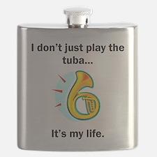 Tuba Its My Life Flask