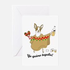 Yo Quiero Tequila Chihuahua Greeting Card