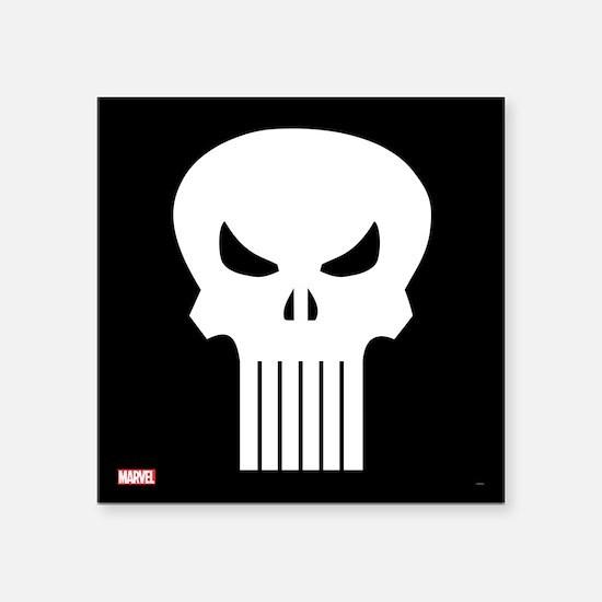 "Punisher Skull Square Sticker 3"" x 3"""