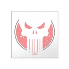 "Punisher Icon Square Sticker 3"" x 3"""