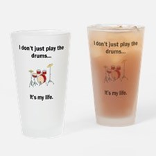 Drums Its My Life Drinking Glass