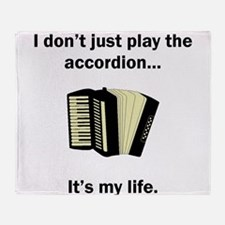 Accordion Its My Life Throw Blanket