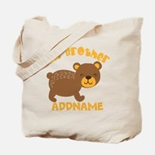 Perssonalized Bear Little Brother Tote Bag