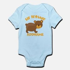 Perssonalized Bear Little Brother Infant Bodysuit