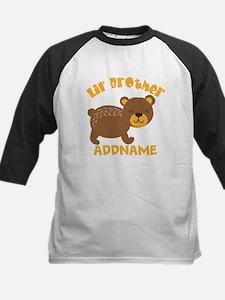 Perssonalized Bear Little Bro Kids Baseball Jersey