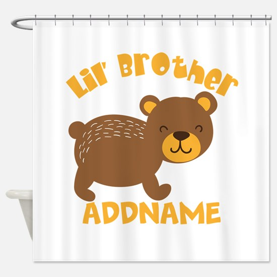 Perssonalized Bear Little Brother Shower Curtain