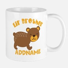 Perssonalized Bear Little Brother Mug