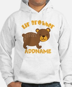 Perssonalized Bear Little Brothe Hoodie