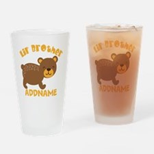 Perssonalized Bear Little Brother Drinking Glass