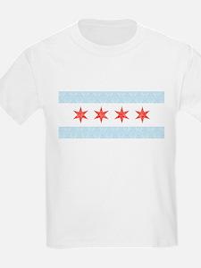 Damask Chicago Flag T-Shirt