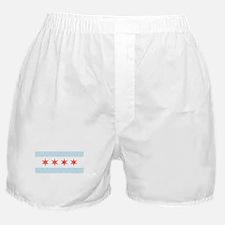 Damask Chicago Flag Boxer Shorts