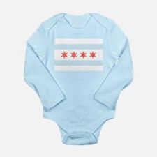Damask Chicago Flag Body Suit