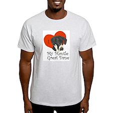 Luv My Mantle Great Dane II Ash Grey T-Shirt