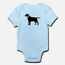 Preppy Black Lab Infant Bodysuit
