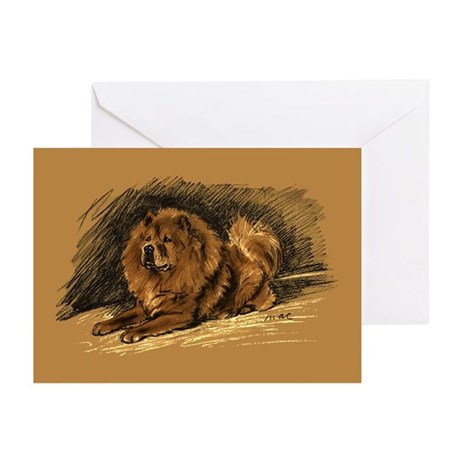 Chow Chow Pastel Sketch Greeting Cards (Pk of 20)