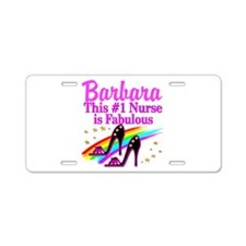 DAZZLING NURSE Aluminum License Plate