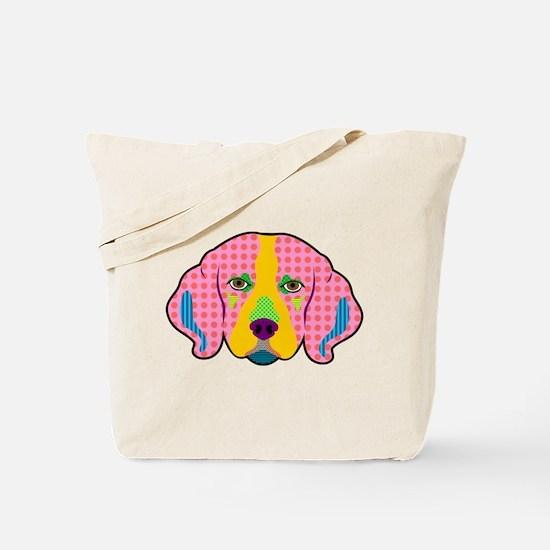 Beagle Pattern Pop Art Tote Bag