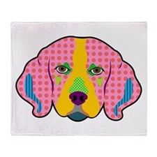 Beagle Pattern Pop Art Throw Blanket