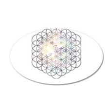 Flower of Life [Blue Star Cluster] Wall Decal