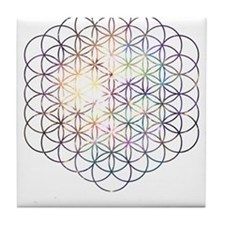 Flower of Life [Blue Star Cluster] Tile Coaster