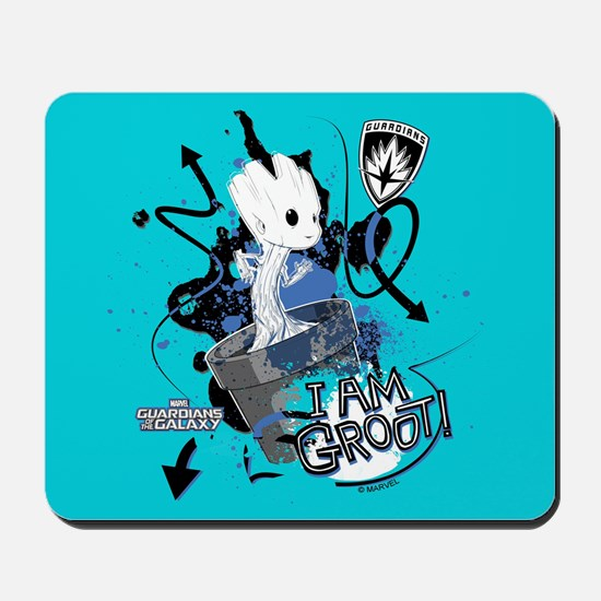 GOTG Baby I am Groot Grunge Mousepad