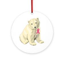 Cute Cancer awareness Round Ornament
