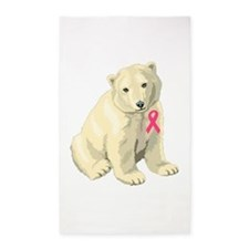 Cute Fight like girl breast cancer Area Rug