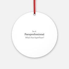Paraprofessional Round Ornament