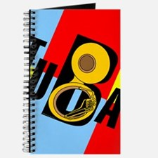 Slanted Tuba Text Color Block Journal