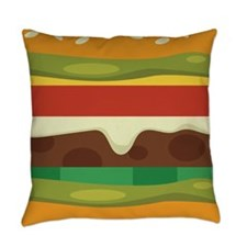 Burger Everyday Pillow