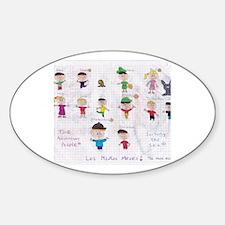 Cute Ninos Sticker (Oval)
