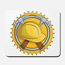 Construction Badge Mousepad