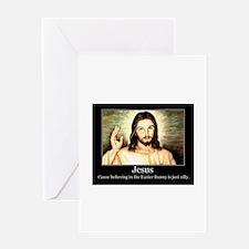 JESUS BUNNY Greeting Cards