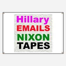 Hillary Emails Nixon Tapes Banner