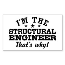 Funny Structural Engineer Decal