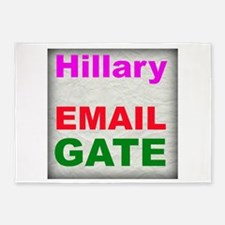 Hillary Email Gate 5'x7'Area Rug