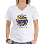 Alicante Family Crest Women's V-Neck T-Shirt