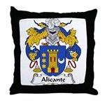 Alicante Family Crest Throw Pillow