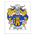 Alicante Family Crest Small Poster