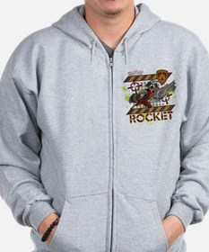 GOTG Rocket Cartoon Danger Zip Hoodie