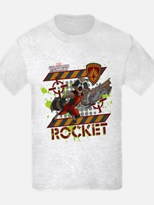 GOTG Rocket Cartoon Danger T-Shirt