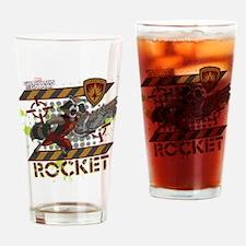 GOTG Rocket Cartoon Danger Drinking Glass