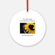 Sunflower Light Leadership Gifts Round Ornament