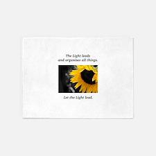 Sunflower Light Leadership Gifts 5'x7'Area Rug