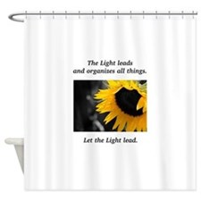 Sunflower Light Leadership Gifts Shower Curtain