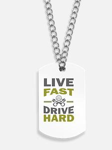 live fast drive hard jdm eat sleep Dog Tags