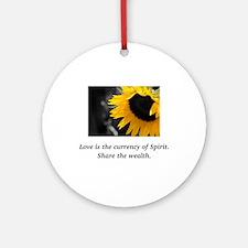 Sunflower Love Wealth Gifts Round Ornament